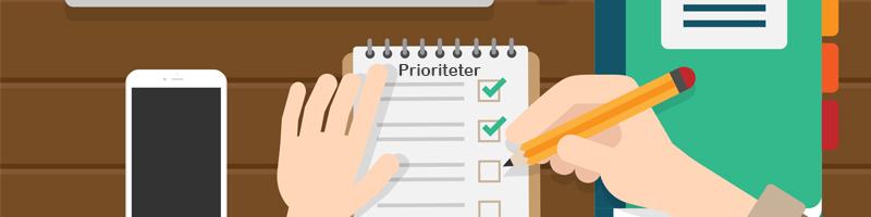 Personlige prioritetsværdier